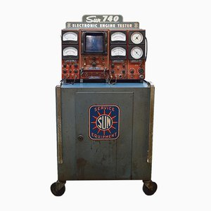 Industrial Decorative Electronic Engine Testing Station from Sun, 1960s