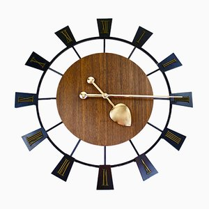 Vintage Electronic Ato-Mat S Wall Clock from Junghans