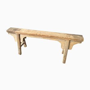 Antique Rustic Elm Bench