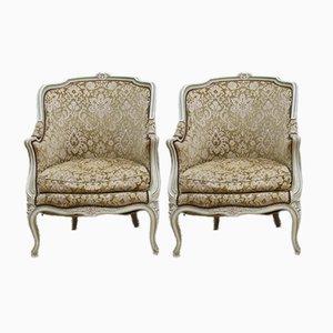 Antique Bergère Armchairs, Set of 2