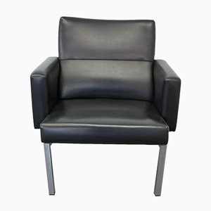 Dutch Black Leatherette Lounge Chair from AP Originals, 1960s