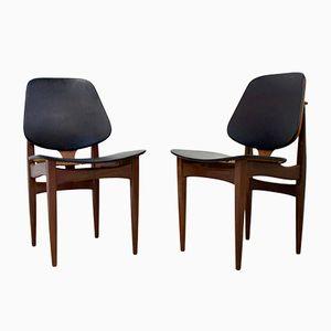 Mid-Century Teak Dining Chairs from Elliots of Newbury, Set of 2