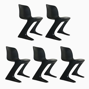 Mid-Century German Dining Kangaroo Chairs by Ernst Moeckl for VEB, 1973, Set of 5