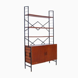 Italian Iron & Wood Bookcase, 1950s