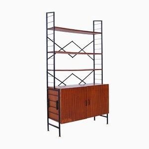 Italienisches Bücherregal aus Eisen & Holz, 1950er