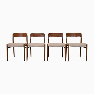 Vintage Teak Dining Chairs by Niels Otto Møller for J.L. Møllers, Set of 4