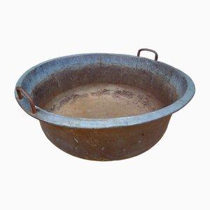Jardinera antigua de cobre