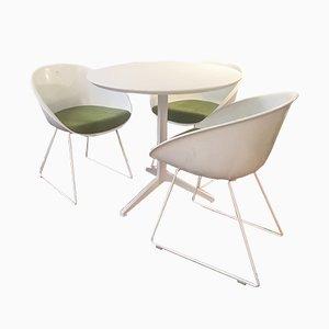 Tavolo vintage e tre poltrone di Jorge Think per Pedrali