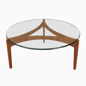 Vintage Rosewood Coffee Table by Sven Ellekaer for Christian Linneberg