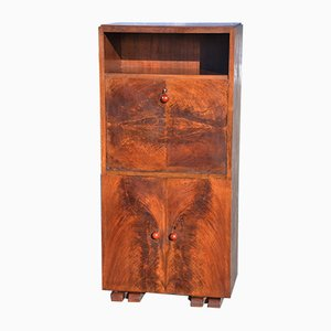 Art Deco Walnut Secretaire, 1930s