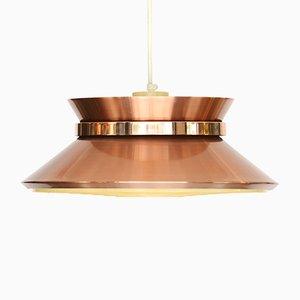 Lampada a sospensione in alluminio color rame di Carl-Thore per Granhaga Metall, anni '70