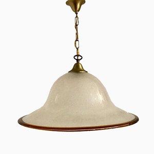 Lampe à Suspension Mid-Century en Verre de Murano