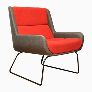 Roter und grauer Hush Chair von Naughtone x Herman Miller, 2006
