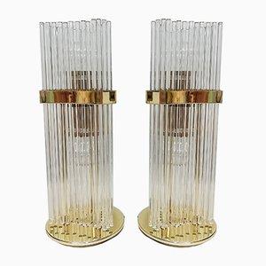 Lampadaires ou Lampes de Bureau Vintage par Gaetano Sciolari, 1970s, Set de 2