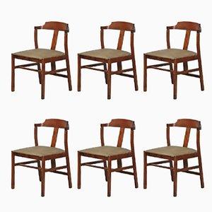 Vintage Esszimmerstühle aus Teak, 1960er, 6er Set
