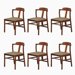 Vintage Teak Dining Chairs, 1960s, Set of 6