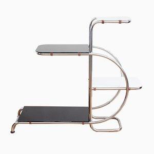 Anaquel Bauhaus de metal cromado, años 40