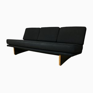 Mid-Century Black 671 Sofa by Kho Liang Ie for Artifort