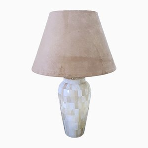 Vintage Tessellated Marble Table Lamp, 1970s