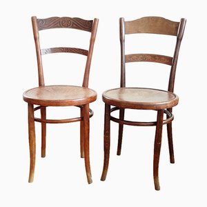 Chaises Bistrot Antique de Jacob & Josef Kohn, Set de 2