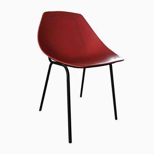 Vintage Stuhl in Muschel-Optik von Pierre Guariche für Meurop, 1950er