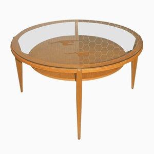 Glass & Wood Coffee Table, 1960s