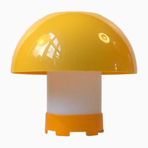 Lampada da tavolo gialla di Bent Karlby per ASK Belysninger, anni '70