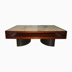 Rosewood & Marble Coffee Table, 1970s