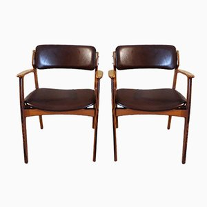 Vintage Model 49 Armchairs by Erik Buch for O.D. Møbler, Set of 2