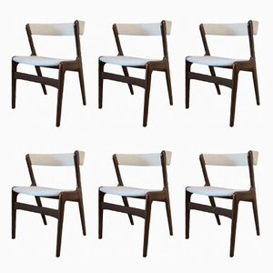 Fire Chairs by Kai Kristiansen for Schou Andersen, 1960s, Set of 6