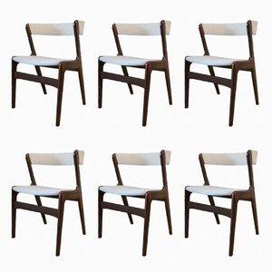 Fire Stühle von Kai Kristiansen für Schou Andersen, 1960er, 6er Set