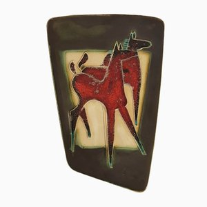 Red Horse Wall Hanging from Schäffenacker, 1960s