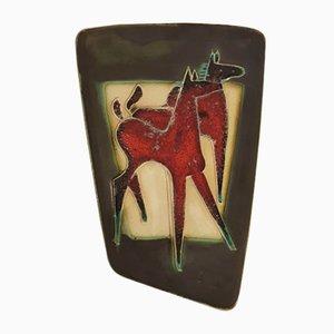Red Horse Wandbild von Schäffenacker, 1960er