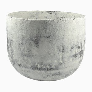 Large White Engobed Bowl by ymono, 2018