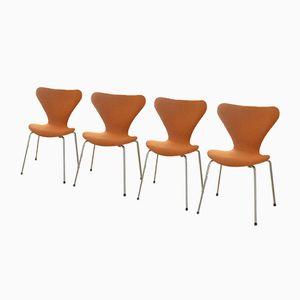 Chaise Series 7 Vintage par Arne Jacobsen pour Fritz Hansen, Set de 4
