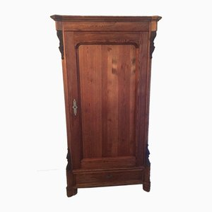 Antique Natural Wood Wardrobe
