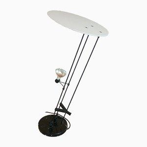 Lámpara de mesa halógena con base de mármol, años 80