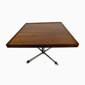 Tavolino in alluminio e legno, Spagna, anni '70