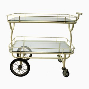 Vintage Industrial Hospital Trolley, 1930s