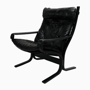 Vintage Leather Siesta Lounge Chair by Ingmar Relling for Westnofa, 1970s