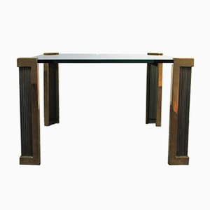 T14 Brass & Glass Coffee Table by Peter Ghyczy, 1980s