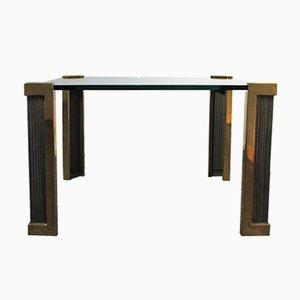 Table Basse T14 en Laiton & en Verre par Peter Ghyczy, 1980s