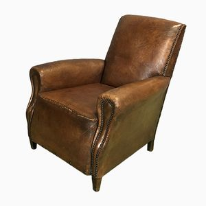Leather Club Chair, 1920s