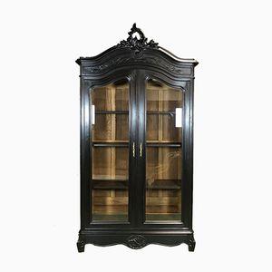 Librería Louis XV antigua de nogal