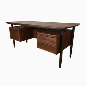 Mid-Century Danish Teak Executive Desk, 1950s