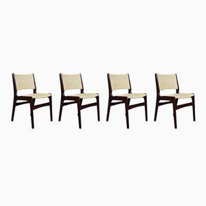Dänische Mid-Century Modell 89 Stühle aus Palisander von Erik Buch, 4er Set