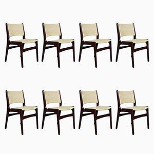 Dänische Mid-Century Modell 89 Stühle aus Palisander von Erik Buch, 8er Set