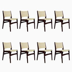 Mid-Century Danish Model 89 Rosewood Chairs by Erik Buch, Set of 8