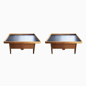 Vintage French Industrial Weaver's Tables, Set of 2