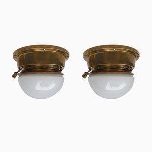 Lámparas de techo Art Déco de Ehrich & Grätz & Gerhardt Berlin. Juego de 2